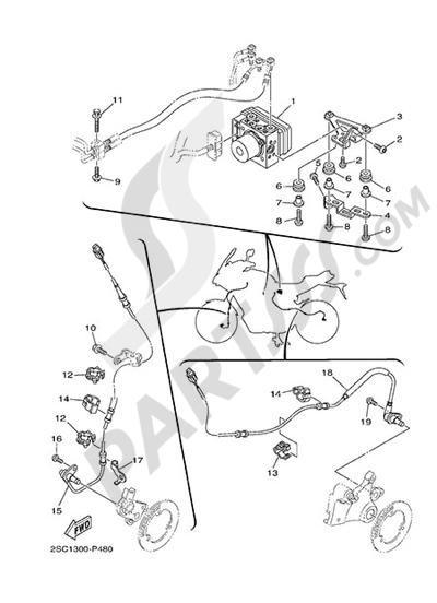Yamaha MT-09 Tracer 2015 ELECTRIC EQUIPMENT 3