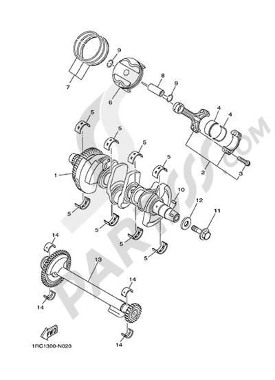 Yamaha MT-09 Tracer 2015 CRANKSHAFT & PISTON