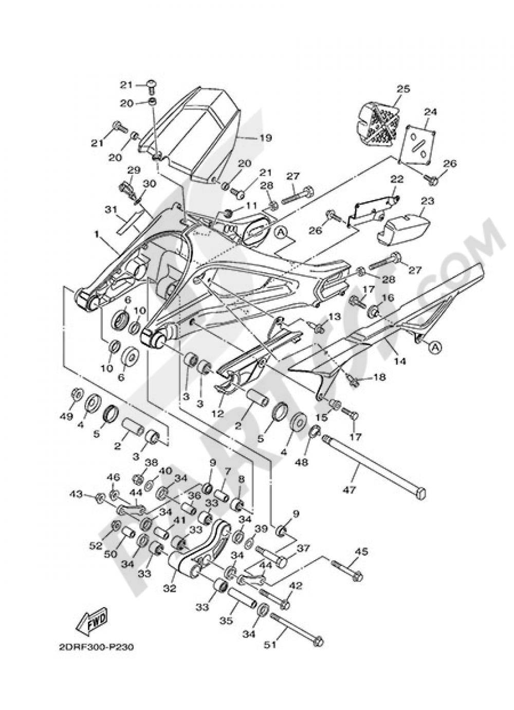 REAR ARM Yamaha MT-09 Tracer 2015