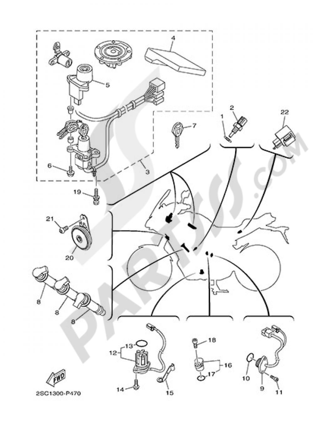 ELECTRIC EQUIPMENT 2 Yamaha MT-09 Tracer 2015
