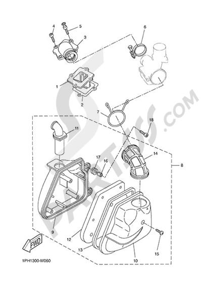 Yamaha NS50N 2014 INTAKE