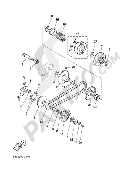 Yamaha NS50N 2014 CLUTCH