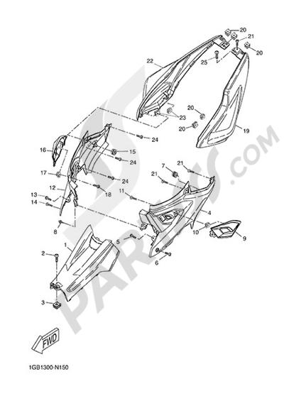 Yamaha NS50N 2014 SIDE FAIRING / COWLING