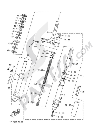 Yamaha NS50N 2014 FRONT FORK