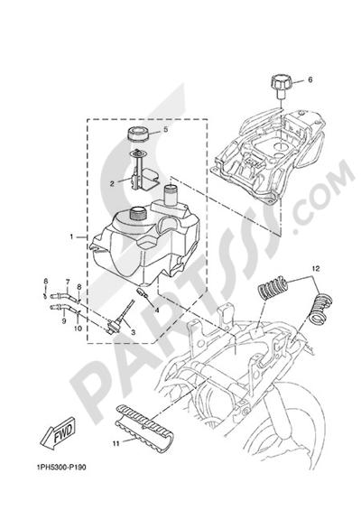 Yamaha NS50N 2014 FUEL TANK