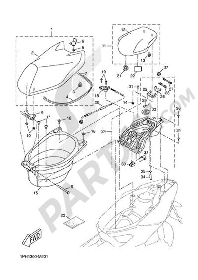 Yamaha NS50N 2014 SEAT & LUGGAGECARRIER