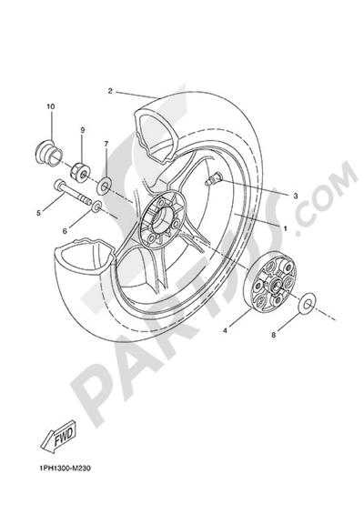 Yamaha NS50N 2014 REAR WHEEL