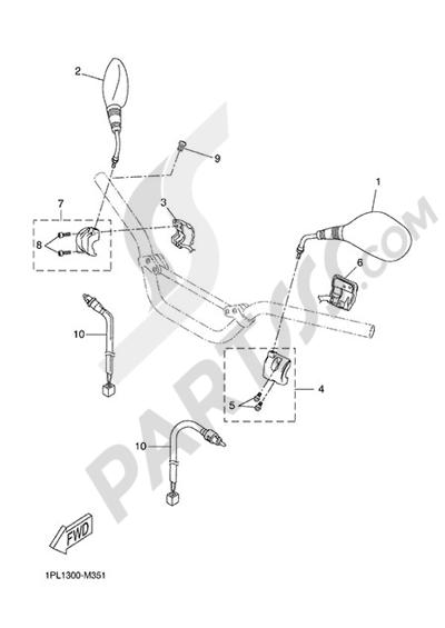 Yamaha NS50N 2014 HANDLEBAR SWITCH AND LEVER