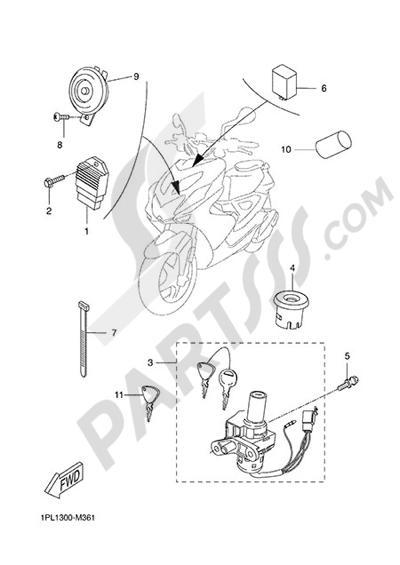 Yamaha NS50N 2014 ELECTRIC EQUIPMENT 1