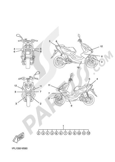 Yamaha NS50N 2014 GRAPHICS & EMBLEMS