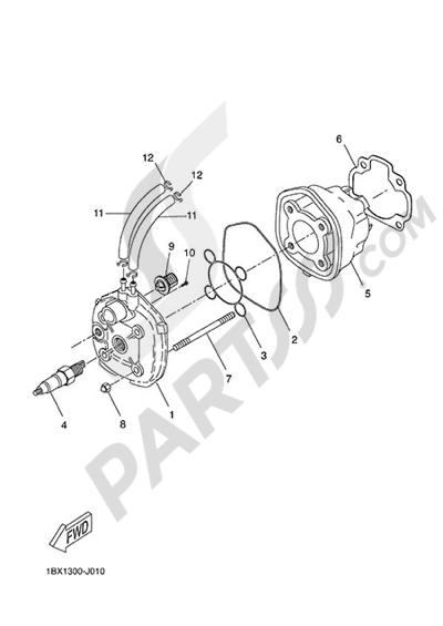 Yamaha NS50N 2014 CYLINDER HEAD