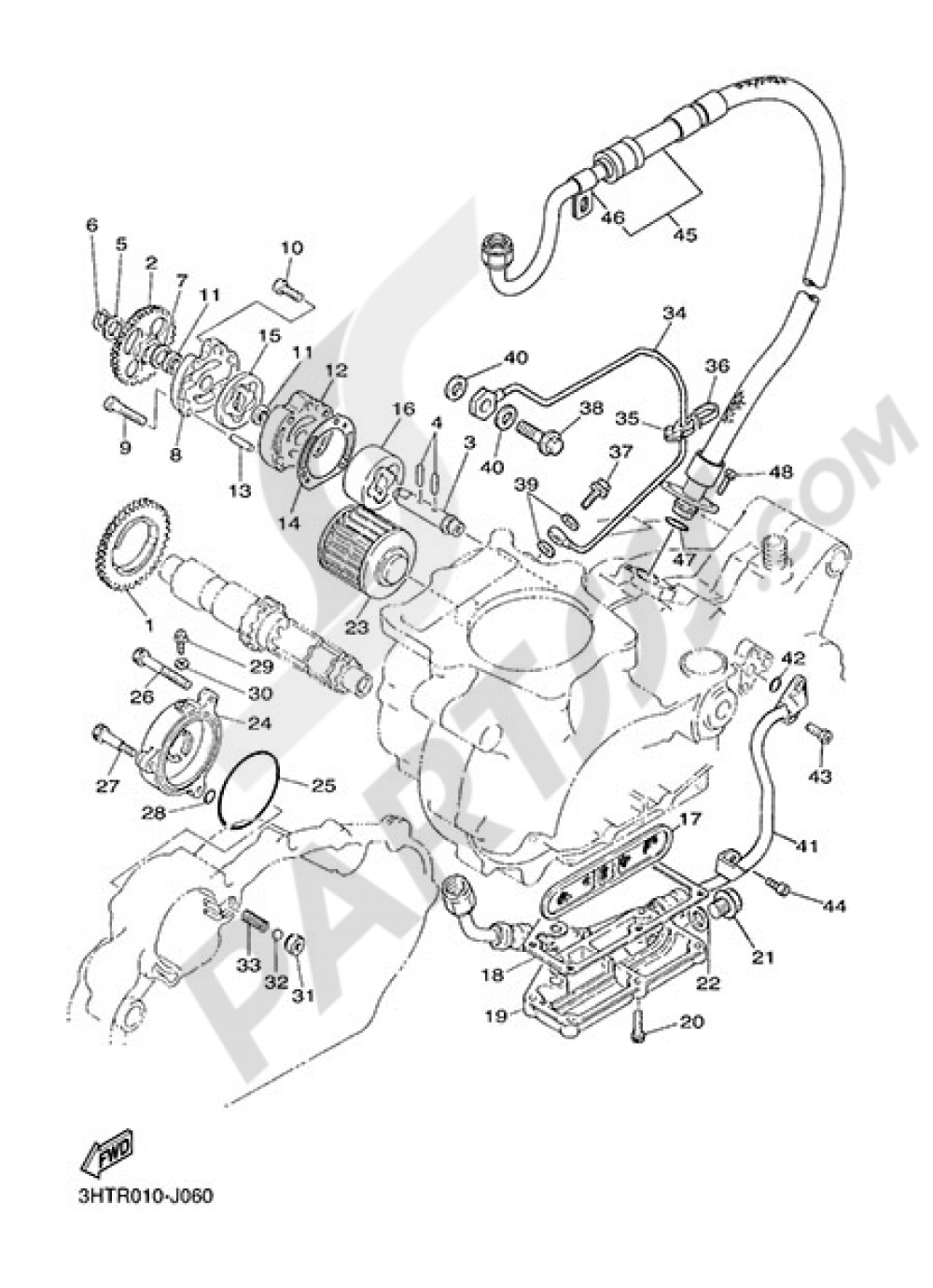 OIL PUMP Yamaha SR400 2014