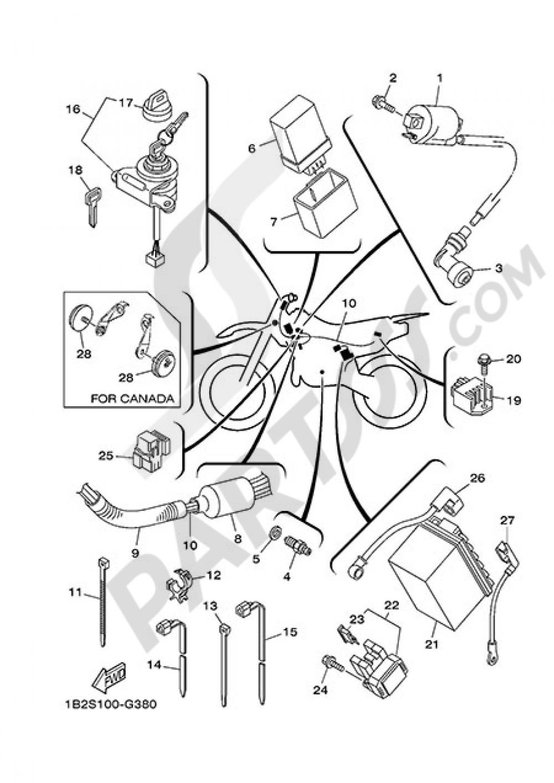 ELECTRIC EQUIPMENT 1 Yamaha TT-R125 2013