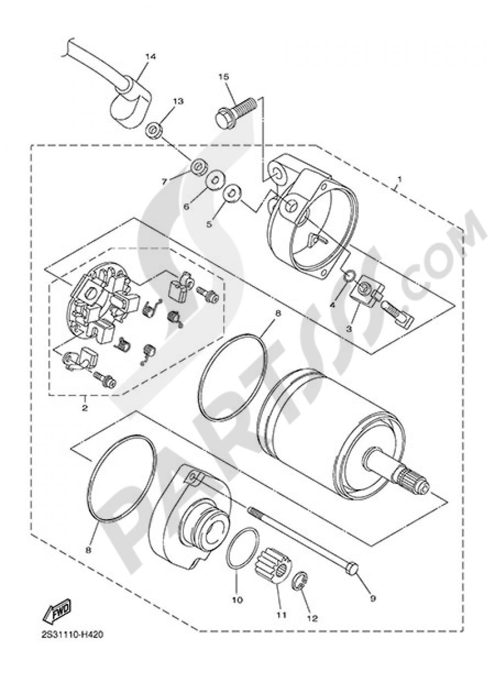 Motor De Arranque Yamaha Vmax Carbon 2015 Engine Diagram