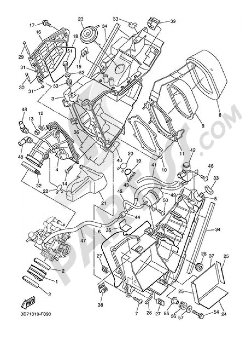 INTAKE Yamaha WR250X 2014