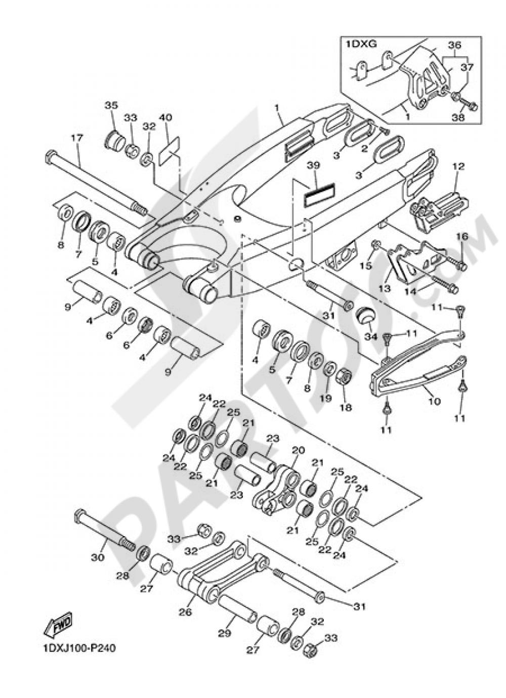 REAR ARM Yamaha WR450F 2015