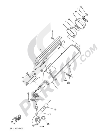 Yamaha X-City 250 2013 EXHAUST