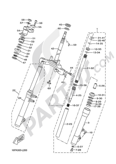 Yamaha X-City 250 2013 STEERING