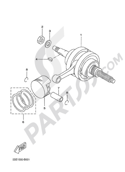 Yamaha X-City 250 2013 CRANKSHAFT & PISTON
