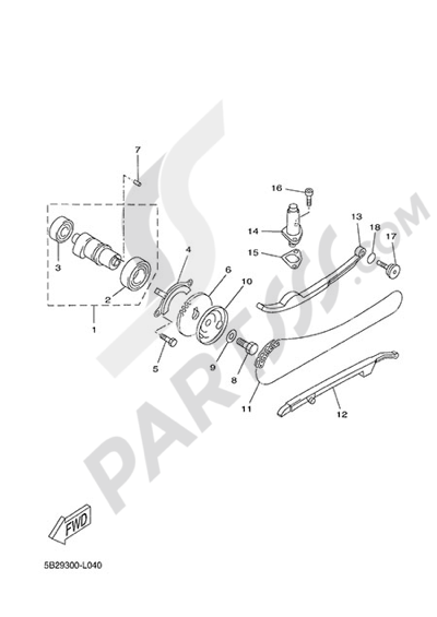 Yamaha X-City 250 2013 CAMSHAFT & CHAIN