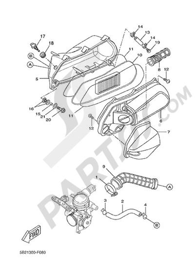 Yamaha X-City 250 2015 INTAKE