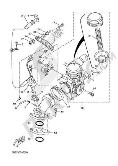 Yamaha X-City 250 2015 INTAKE 2