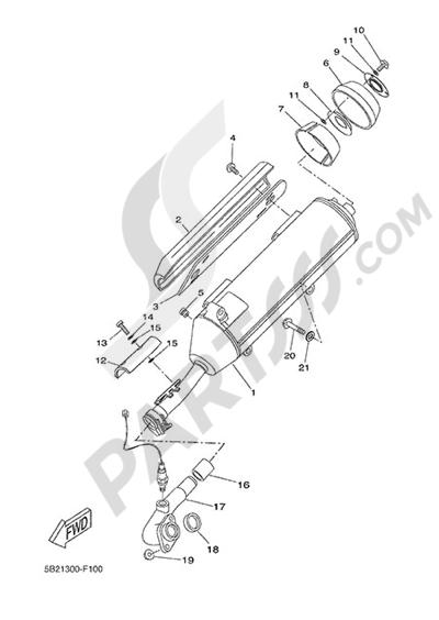 Yamaha X-City 250 2015 EXHAUST