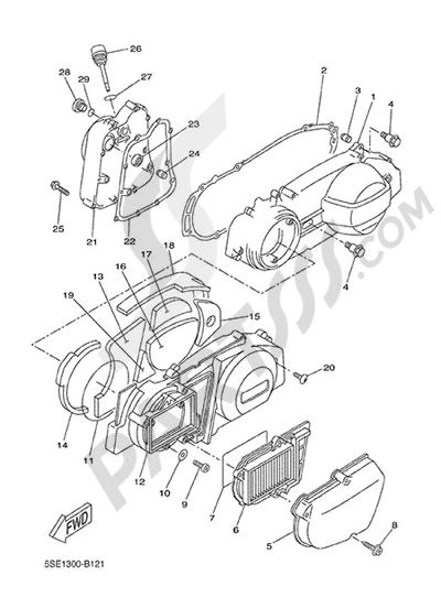 Yamaha X-City 250 2015 CRANKCASE COVER 1