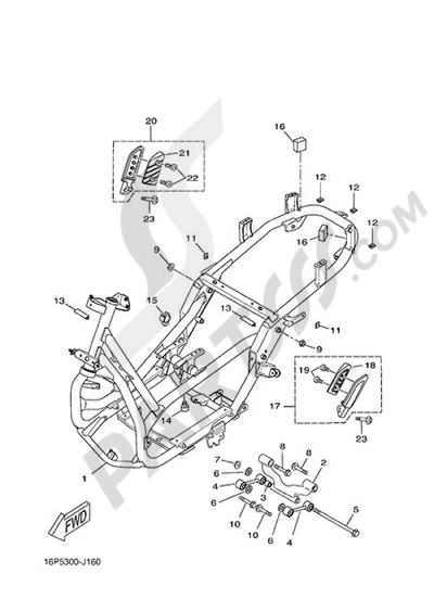 Yamaha X-City 250 2015 FRAME