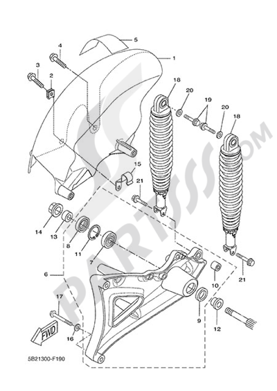 Yamaha X-City 250 2015 REAR ARM & SUSPENSION