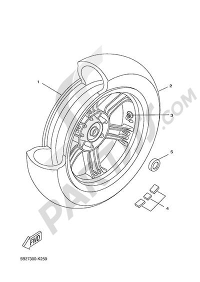 Yamaha X-City 250 2015 REAR WHEEL