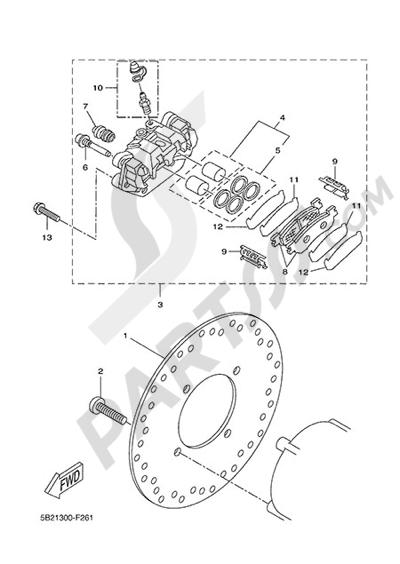 Yamaha X-City 250 2015 REAR BRAKE CALIPPER