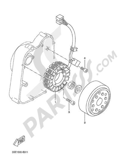 Yamaha X-City 250 2015 GENERATOR