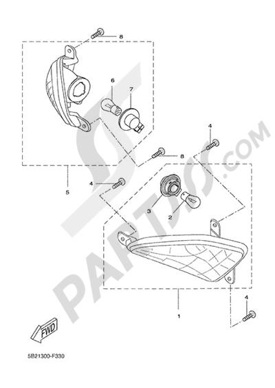 Yamaha X-City 250 2015 SIGNAL LIGHT