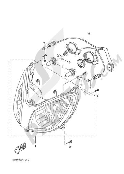 Yamaha X-City 250 2015 FRONT LIGHT