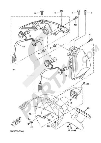 Yamaha X-City 250 2015 REAR LIGHT