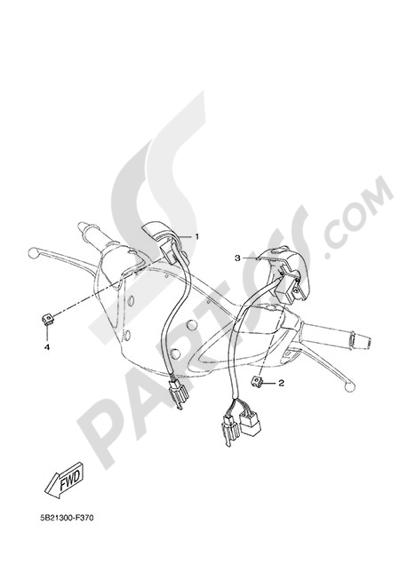 Yamaha X-City 250 2015 HANDLEBAR SWITCH AND LEVER