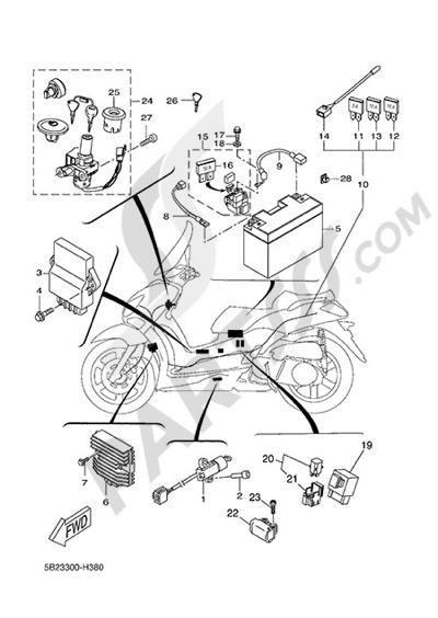 Yamaha X-City 250 2015 ELECTRIC EQUIPMENT 1