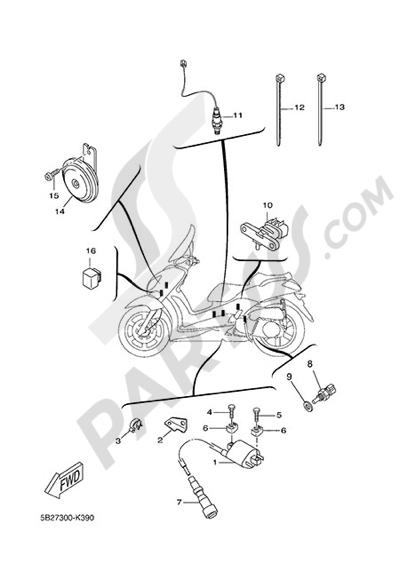 Yamaha X-City 250 2015 ELECTRIC EQUIPMENT 2
