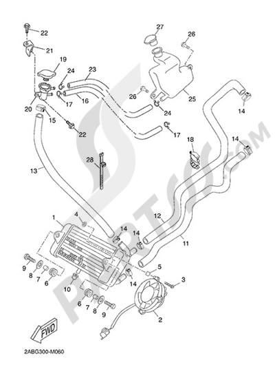 Yamaha X-Max 125 ABS 2013 RADIATOR AND HOSE