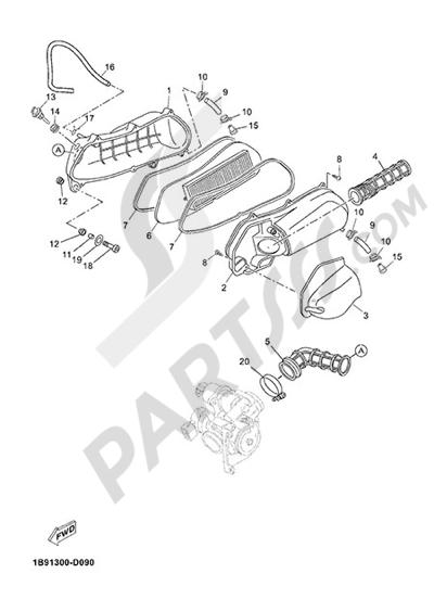 Yamaha X-Max 125 ABS 2013 INTAKE 2