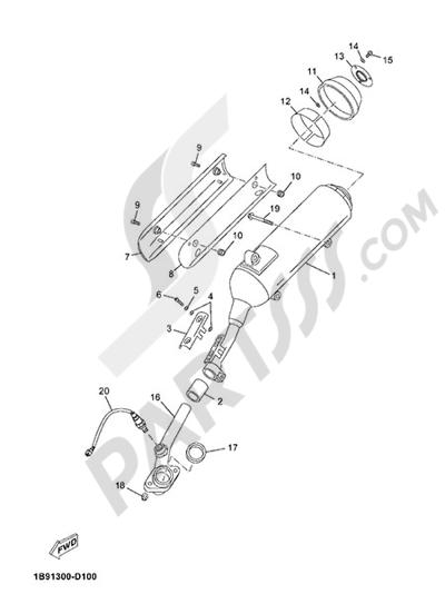Yamaha X-Max 125 ABS 2013 EXHAUST