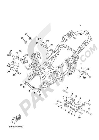 Yamaha X-Max 125 ABS 2013 FRAME