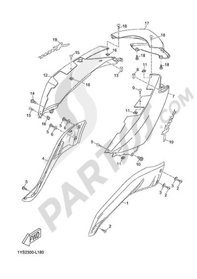 Yamaha X-Max 125 ABS 2013 SIDE FAIRING / COWLING