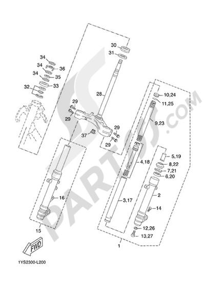 Yamaha X-Max 125 ABS 2013 STEERING