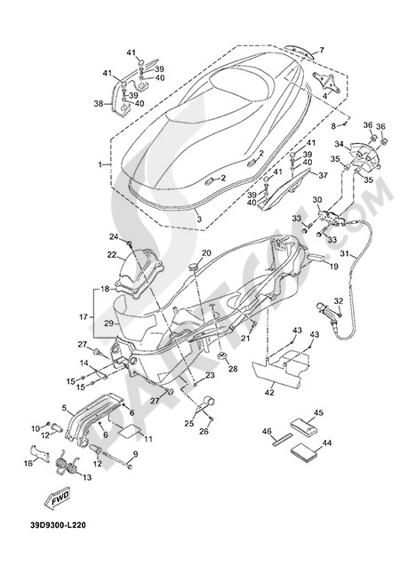 Yamaha X-Max 125 ABS 2013 SEAT