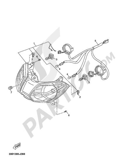 Yamaha X-Max 125 ABS 2013 FRONT LIGHT