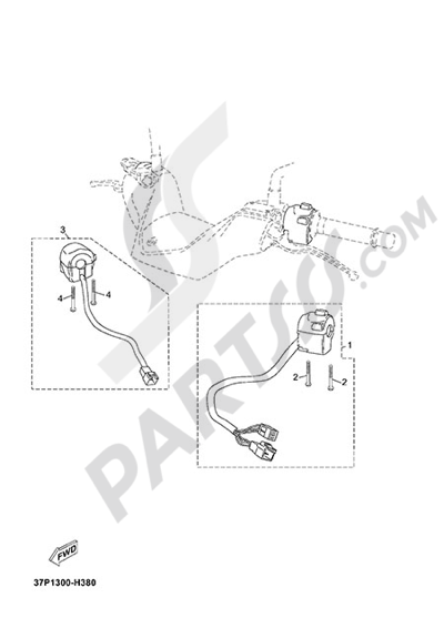 Yamaha X-Max 125 ABS 2013 HANDLEBAR SWITCH AND LEVER