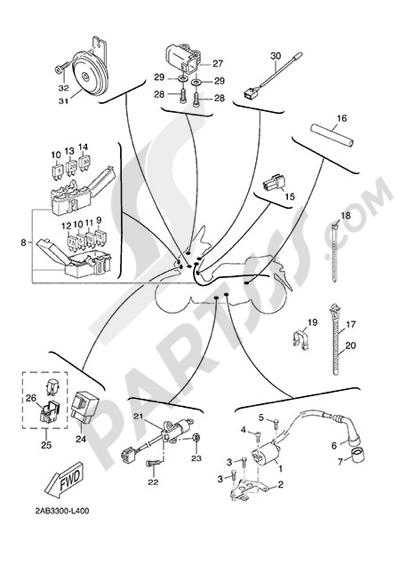 Yamaha X-Max 125 ABS 2013 ELECTRIC EQUIPMENT 2