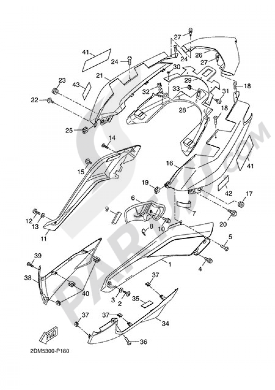 SIDE FAIRING / COWLING Yamaha X-Max 125 ABS MOMO 2015